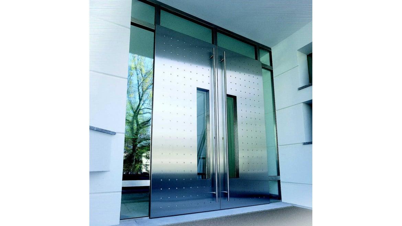 Porte d 39 ingresso inox porte in acciaio porte per abitazioni porte di casa portoni - Porte per ingresso casa ...
